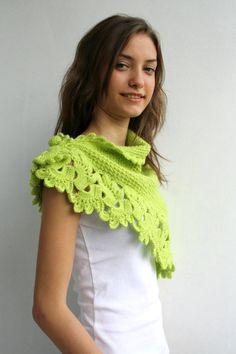 Hecho a mano collar de bufanda verde pistacho Midi por denizgunes