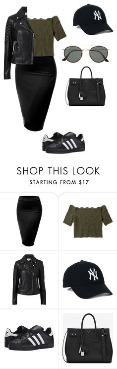 """Untitled #81"" by mayventu1999 on Polyvore featuring J.TOMSON, Hollister Co., Witchery, adidas Originals, Yves Saint Laurent and Ray-Ban"