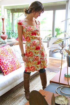 Amy Butler's Soul Blossoms Fabrics with The Lotus Tunic