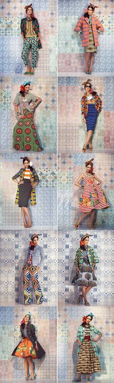 The queen of mixing patterns and prints. Stella Jean is a genius with colors and mixing of prints African Inspired Fashion, African Print Fashion, Africa Fashion, Ethnic Fashion, Fashion Prints, Fashion Design, African Prints, Ankara Fashion, Trendy Fashion