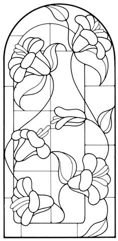 Colour a stained glass window Stained Glass Quilt, Stained Glass Flowers, Faux Stained Glass, Stained Glass Designs, Stained Glass Panels, Stained Glass Projects, Stained Glass Patterns, Mosaic Patterns, Flower Patterns