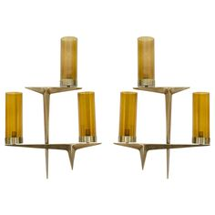 Amber Glass Arlus Sconces | From a unique collection of antique and modern wall lights and sconces at https://www.1stdibs.com/furniture/lighting/sconces-wall-lights/