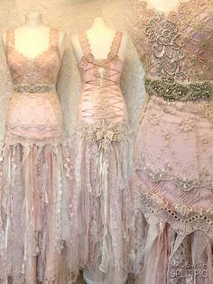 Alternative Hochzeitskleid made in Dänemark von RAWRAGSbyPK auf Etsy