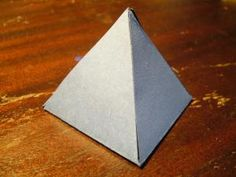How to make a pyramid out of cardboard