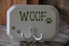 Dog Leash and Collar Holder by AmysVinylCreations on Etsy, $17.00