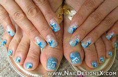 blue toe nail art » Nail Designs & Nail Art