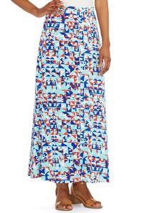 Digital Geometric Point Maxi Skirt