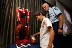 Iron Boy saves Sydney! And hes only nine years old  CNET  Enlarge Image  Nine-year-old Sydney local Domenic gets ready to suit up as Iron Boy and take on Ultrons evil henchmen.  NSW Police  Australia can be a pretty wild place at the best of times (were the land of Mad Max after all) but thankfully one superhero has landed in Sydney to save the day. Introducing Iron Boy!  Sydneys answer to Batkid the pint-sized hero that swept into San Francisco in 2013 Iron Boy is the alter ego of Sydney…
