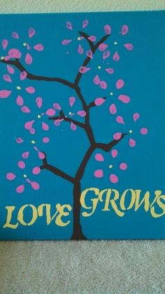 Love grows soda bottle painting