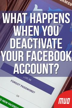 MakeUseOf.com — Technology, Simplified — Rather than deleting Facebook, you can just deactivate your account. But what happens when you deactivate your Facebook account? In this article we'll give you the facts about deactivating Facebook… #SocialMedia #Facebook #Deactive #DeleteFacebook Life Hacks Computer, Iphone Life Hacks, Computer Basics, Computer Help, Computer Security, Computer Tips, Deactivate Facebook, Delete Facebook, Cell Phone Hacks