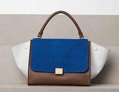 Blue, Brown & White Celine Bag