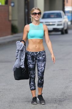 JULIANNE HOUGH Leaves a Gym in  Los Angeles 08/10/2016