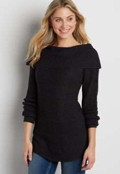 off the shoulder pullover tunic sweater On my wish list #wishpinwinsweepstakes #discovermaurices.