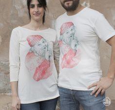 """Camisetas con ilustración """"Nicolás"""" /T-shirt with illustration """"Nicolás"""" #camiseta #tshirt #ilustración #illustration #santaclaus #navidad #christmas"""