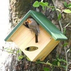 "birdhouses Next Post Previous Post Nistkasten ""Panama"" halb offen Da Wooden Bird Houses, Bird Houses Diy, Bird House Plans, Bird House Kits, Garden Projects, Wood Projects, Woodworking Projects, Diy Garden, Garden Ideas"