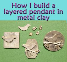 Explaining my layered PMC pendants and similar jewelry ... #metalclay #silver #finesilver #jewelrymaking ... semi - tutorial