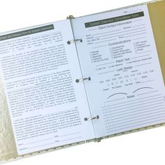 8.5x5.5 Client Info Sheets qty 25Front: Eyelash Extension Consultation Form Back: Consent and Release formFits standard 8.5x5.5 - 3-ring binder Sturdy 14pt cardstock