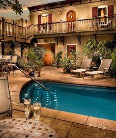 Pool + Patio | McMillan Inn located in Savannah, GA .