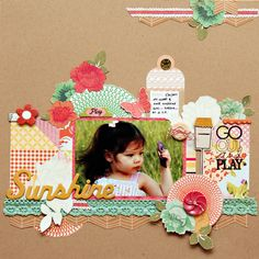 love the background made from small scraps and snippets #scrapbooking #layout