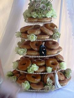 Glazed Donut Wedding Cake