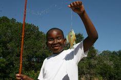 Fishing at Camp Fire's Camp El Tesoro