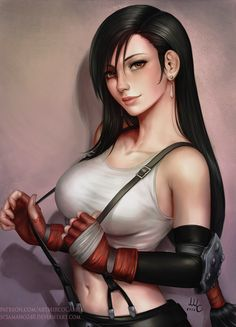 Tifa - Final Fantasy 7 (2 versions) by Sciamano240 on @DeviantArt