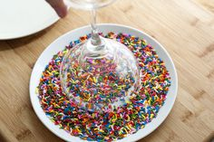 Did you know: You can rim a margarita glass with sprinkles!