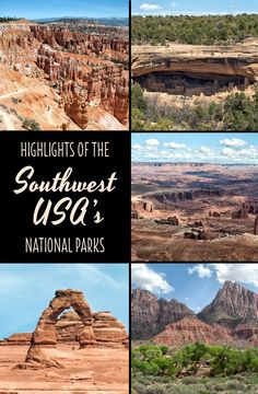 What to see when you're short on time in some of the southwest USA's best National Parks – Bryce Canyon, Zion, Arches, Canyonlands and Mesa Verde. Best Places To Camp, Places To Go, Southwest Usa, California Camping, National Parks Usa, Road Trip Usa, United States Travel, Travel Usa, Travel Tips