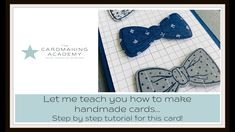 120. Man's Thank You Hand Made Card with step by step tutorial - YouTube Hand Made Greeting Cards, Making Greeting Cards, Card Making Tutorials, Video Tutorials, Cute Thank You Cards, Congratulations Card, Heartfelt Creations, Cardmaking, Baby Boy Cards Handmade