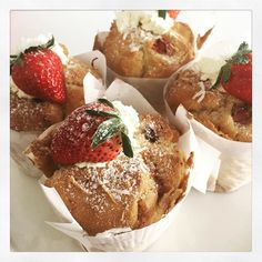 Strawberry and coconut muffins at 2 Tarts today! Beat the heat and come in for a cold drink and cake! Xx2Tarts #2tartsbaking #muffins #strawberry #coconut #eat3280 by 2tartsbaking