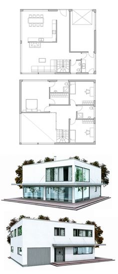 Modern House Plan. Floor Plan from ConceptHome.com Singing Lessons ...