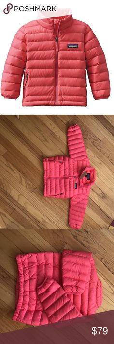 🦊1 day sale!! NWT🌲Patagonia Baby Down Sweater 2t polyester shell that's insulated with warm compressible traceable down (600 fill power Duck down traced from parent farm to apparel factory to help ensure the birds that supply are not force-fed or life plucked) and layers easily for warmth and called her conditions.  Indy Pink. Lightweight, handwrmer pockets. Spandex binding to keep 🌬💨❄️ OUT!! Patagonia Jackets & Coats Puffers