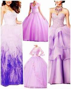 Lavender Quinceanera dress - The largest part of the quinceanera for a girl turning 15 will be the dress! The ideal quinceanera gown makes the birthday girl feel like royalty. Strapless Dress Formal, Prom Dresses, Formal Dresses, Lavender Quinceanera Dresses, Dream Party, Girl Birthday, Ball Gowns, Feminine, Stylish