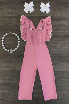 Blush Pink Ruffle Jumpsuit