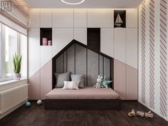 Luxurious Interior With Wood Slat Walls is part of children Room Girl - Get onboard with the wood slat wall trend with this luxurious home interior; featuring wood slat dividing walls, wall panel design and wood ceiling ideas Kids Room Design, Room Interior Design, Luxury Interior, Interior Modern, Interior Colors, Interior Ideas, Trendy Bedroom, Girls Bedroom, Modern Kids Bedroom