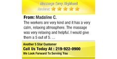 The workers are very kind and it has a very calm, relaxing atmosphere. The massage was...