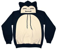 Snorlax Inspired Zipper Hoodie Made to Order by CosplayCousins