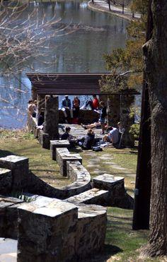 classes meet by Walton Pond in the warm weather! www.eastern.edu