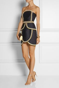 Sass and bide black gold dress