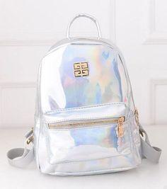 2016 New Backpack Female Laser Shoulder Bag Mochila Feminina Korean Fashion PU High School Bags For Students Leisure Travel Bags