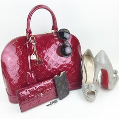 Stunning! Shop all handbags, shoes & accessories on www.mymoshposh.com! #louisvuitton #louisvuittonalma #vernisleather #lvlover #purselover #purseblog #bagsofTPF #christianlouboutin #louboutinworld #redbottoms #shoelover #talkshoes #versace #versacesunglasses #mymoshposh #moshposhfinds #designerconsignment