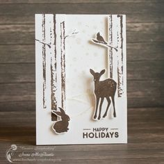 Winter Forest Card - Creative Scrapbooking
