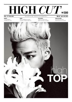 TOP (Big Bang) too bad it's in black and white (his hair was dyed in teal)