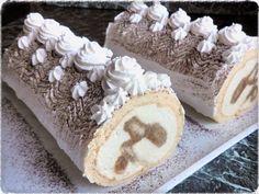 TIRAMISU ROLÁDA S AMARETTEM Krispie Treats, Rice Krispies, Tiramisu, Vanilla Cake, Deserts, Sweet Tooth, Ethnic Recipes, Food, Cheesecake