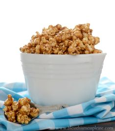 Gooey Caramel Corn - my mom's recipe she's been making since I was a kid. A fall must have!