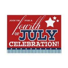 Fourth of July Party Invitations by reflections06