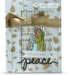 Stampin Up Christmas card idea: ——— S U P P L I E S ——— • All Ye Faithful…