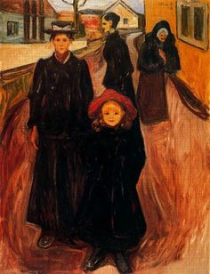 Edvard Munch / Four Ages in Life (1902)