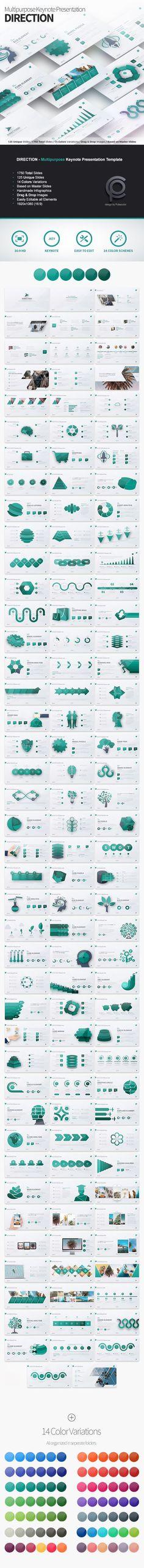 Direction - Multipurpose Keynote Presentation - Business Keynote Templates