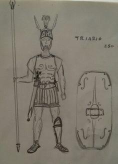"Triarius in 250 b.C. with an Italic ""muscolata"" cuirass"